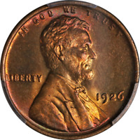 1926-P LINCOLN CENT PCGS MINT STATE 66 RB SUPERB EYE APPEAL STRONG STRIKE