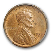 1909 S 1C LINCOLN WHEAT CENT PCGS MINT STATE 64 RB UNCIRCULATED RED BROWN KEY DATE CE