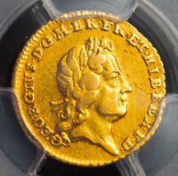 1718 GREAT BRITAIN GEORGE I. BEAUTIFUL GOLD1/4GUINEA COIN.  2.03GM  PCGS XF