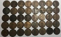 SHORT ROLL OF 40 1919-S LINCOLN WHEAT CENTS. CIRCULATED W/ PROBLEMS OR UGLY N6