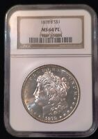 1878 S MORGAN MINT STATE 64 PL PROOF LIKE