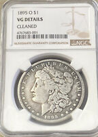 1895 O MORGAN DOLLAR NGC VG DETAILS CLEANED