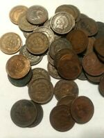 1X 50 CENT INDIAN HEAD PENNY CENT ROLL 50 CENTS IHC MIXED DA