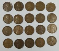 20-PIECE LOT X 1924-S LINCOLN/WHEAT EARS REVERSE CENTS GOOD TO  FINE