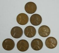 10-PIECE LOT X 1932 LINCOLN/WHEAT EARS REVERSE CENTS  FINE - EXTRA FINE