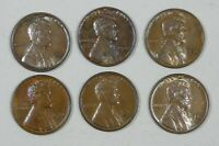 6-PIECE LOT X 1932 LINCOLN/WHEAT EARS REVERSE CENTS ALMOST UNCIRCULATED