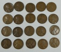 20-PIECE LOT X 1926-D LINCOLN/WHEAT EARS REVERSE CENTS GOOD TO  FINE