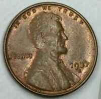 1937 - S - US LINCOLN WHEAT CENT MINT LUSTER Q305