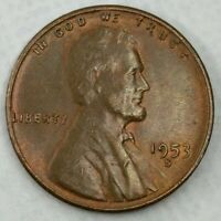 1953 - S - US LINCOLN WHEAT CENT MINT LUSTER Q329