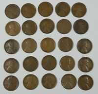 25-PIECE LOT X 1916-S LINCOLN/WHEAT EARS REVERSE CENTS GOOD OR BETTER
