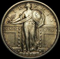 CIRCULATED 1917-D TYPE-1 STANDING LIBERTY QUARTER  56A