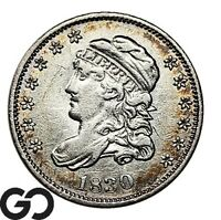 1830 CAPPED BUST HALF DIME AU COLLECTOR TYPE COIN