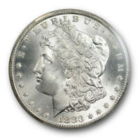 1883 CC $1 MORGAN DOLLAR PCGS MINT STATE 65 UNCIRCULATED CARSON CITY MINT BLAST WHITE