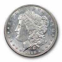1888 S $1 MORGAN DOLLAR PCGS MINT STATE 62 UNCIRCULATED BLAST WHITE BETTER DATE