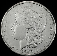 1903-P MORGAN SILVER DOLLAR.  HIGH GRADE.  INV.A