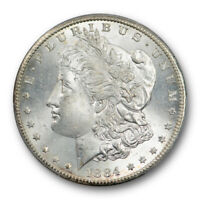 1884 CC $1 MORGAN DOLLAR PCGS MINT STATE 65 UNCIRCULATED CARSON CITY MINT LIGHTLY TONED