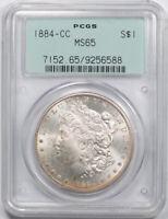 1884 CC $1 MORGAN DOLLAR PCGS MINT STATE 65 UNCIRCULATED CARSON CITY OGH OLD HOLDER