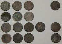 1808 1814   CLASSIC HEAD LARGE CENTS WITH DATES   LOW GRADE