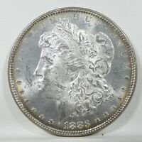 1883 MORGAN DOLLAR  BRILLIANT UNCIRCULATED SILVER DOLLAR  ORIGINAL TONING