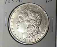 AU 1887-O MORGAN SILVER DOLLAR ABOUT UNCIRCULATED NEW ORLEANS MINT 22321