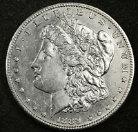 1889-S MORGAN SILVER DOLLAR.   BU PROOF-LIKE.  157601