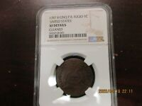 1787 FUGIO CENT 4 CINQ P.R. NGC XF DETAILS CLEANED