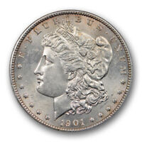 1901 S $1 MORGAN DOLLAR ANACS MINT STATE 63 UNCIRCULATED SAN FRANCISCO MINT OLD HOLDER