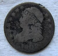 1809 CAPPED BUST DIME  DATE MINOR RIM NICK   LOTS OF TOUGH DATES LISTED