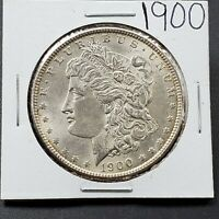 1900 P MORGAN SILVER EAGLE DOLLAR COIN BU UNCIRCULATED SOME TONING  COIN