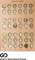 1916 1945 MERCURY DIME SET NO 1916 D ALL OTHER DATES INCLUDE