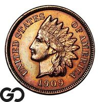1909 S INDIAN HEAD CENT PENNY AVIDLY PURSUED SHARP KEY DATE