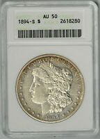 1894-S  ANACS  AU50  MORGAN DOLLAR    OLD HOLDER    TOUGH DATE    2618280