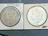 MORGAN SILVER DOLLARS - 1880O PLUS 1881O - LOT OF 2