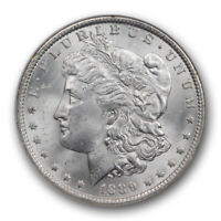 1889 O $1 MORGAN DOLLAR NGC MINT STATE 62 UNCIRCULATED BLAST WHITE LUSTROUS CERT0024