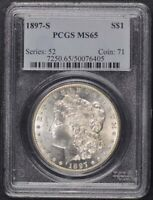 1897-S $1 MORGAN DOLLAR PCGS MINT STATE 65