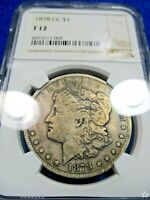 1878 CC MORGAN SILVER DOLLAR F12 NGC DUAL TONED IN WILD WEST BRONZE GOLDS