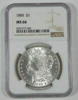 1885 MORGAN SILVER DOLLAR CERTIFIED NGC MINT STATE 66