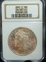 1880  S  MORGAN SILVER DOLLAR  NGC  MINT STATE 67 PL  STUNNING PROOF LIKE COIN