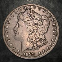 1889-CC MORGAN SILVER DOLLAR - GREAT DETAIL - HIGH QUALITY SCANS H862