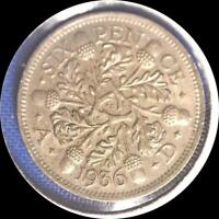 GREAT BRITAIN 1936 6 PENCE OLD WORLD SILVER COIN HIGH GRADE