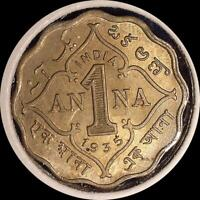INDIA 1935 1ANNA OLD WORLD COIN CH. UNC. MUCH ORIGINAL LUSTER