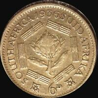 SOUTH AFRICA 1936 6 PENCE OLD WORLD SILVER COIN HIGH GRADE