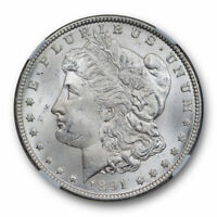 1891 CC $1 MORGAN DOLLAR NGC MINT STATE 63 UNCIRCULATED CARSON CITY MINT WHITE