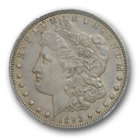 1893 O $1 MORGAN DOLLAR PCGS AU 50 ABOUT UNCIRCULATED BETTER DATE TOUGH