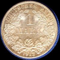 GERMANY 1912 A 1 MARK OLD WORLD SILVER COIN HIGH GRADE