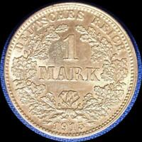 GERMANY 1915 J 1 MARK OLD WORLD SILVER COIN HIGH GRADE