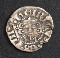 1247 KINGDOM OF ENGLAND HENRY III. HAMMERED SILVER LONG CROSS PENNY COIN. AVF