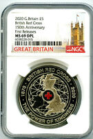 2020 GREAT BRITAIN 5PND BRITISH RED CROSS NGC MS69 DPL FIRST