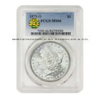 1879-O $1 MORGAN PCGS MINT STATE 66 ULTRA  GEM GRADED SILVER DOLLAR COIN PQ APPROVED