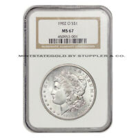 1902-O $1 MORGAN NGC MINT STATE 67 GEM GRADED NEW ORLEANS SILVER DOLLAR COIN LUSTROUS